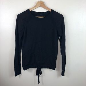 lululemon athletica Sweaters - Lululemon tied to you sweater black wool size 2